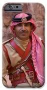 Policeman in Petra Jordan iPhone Case by David Smith
