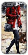 Rainy day - Woman of New York 09 iPhone Case by Emerico Imre Toth