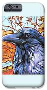 Raven Head iPhone Case by Nadi Spencer