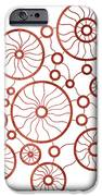Red Circles iPhone Case by Frank Tschakert
