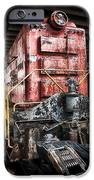 Red Train iPhone Case by Todd and candice Dailey