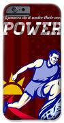 Runner Running Power Poster iPhone Case by Aloysius Patrimonio