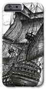Sailing Drawing Pen and Ink in Black and White iPhone Case by Mario  Perez