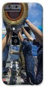 Sailors Load Rim-7 Sea Sparrow Missiles iPhone Case by Stocktrek Images