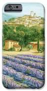 Saint Paul de Vence and Lavender iPhone Case by Marilyn Dunlap