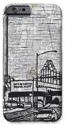 Seaholm on Map iPhone Case by William Cauthern