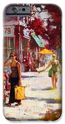 Small Talk in Elmwood Ave iPhone Case by Ylli Haruni