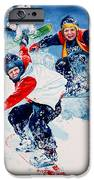 Snowboard Super Heroes iPhone Case by Hanne Lore Koehler