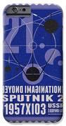 Starschips 21- poststamp - Sputnik 2 iPhone Case by Chungkong Art