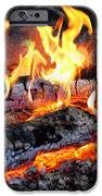 Stove - The Yule log  iPhone Case by Mike Savad