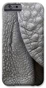 Structure of the skin of an Indian rhinoceros in a zoo in the Netherlands iPhone Case by Ronald Jansen