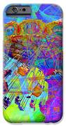 Summertime At Santa Cruz Beach Boardwalk 5D23905 square iPhone Case by Wingsdomain Art and Photography