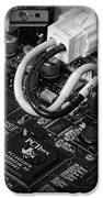 Technology - Motherboard in black and white iPhone Case by Paul Ward