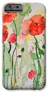 Tender Poppies - Flower iPhone Case by Ismeta Gruenwald