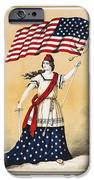 The american flag a new national lyric iPhone Case by Aged Pixel