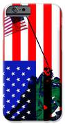The American Flag Over Iwo Jima 20130210 iPhone Case by Wingsdomain Art and Photography