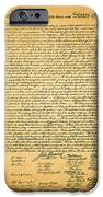 The United States Declaration of Independence - square iPhone Case by Wingsdomain Art and Photography
