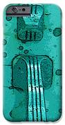 Thumb Slide for a Painter in TEAL iPhone Case by Cathy Peterson