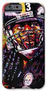 Troy Polamalu iPhone Case by Maria Arango