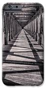 Tulsa Pedestrian Bridge in Black and White iPhone Case by Tamyra Ayles