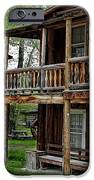 TWO STORY OUTHOUSE - NEVADA CITY MONTANA iPhone Case by Daniel Hagerman