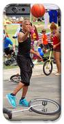 Unicyclist - Basketball - Street rules  iPhone Case by Mike Savad
