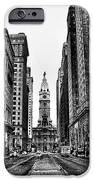 Urban Canyon - Philadelphia City Hall iPhone Case by Bill Cannon