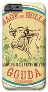 Vintage Cheese Label 1 iPhone Case by Debbie DeWitt