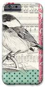 Vintage Songbird 3 iPhone Case by Debbie DeWitt