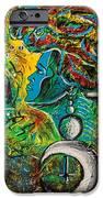 Visage Bleu iPhone Case by Kenal Louis