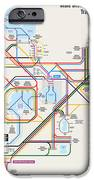 Walt Disney World Resort Transportation Map iPhone Case by Arthur De Wolf