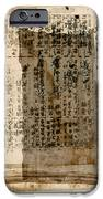 Weathered Pages iPhone Case by Carol Leigh