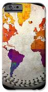 World Map - Rainbow Bliss Baseball Square iPhone Case by Andee Design