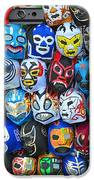 Wrestling Masks of Lucha Libre iPhone Case by Jim Fitzpatrick