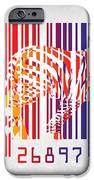 zebra barcode iPhone Case by Mark Ashkenazi