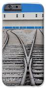 Railway Shed And Sidings. Bright Blue iPhone Case by Guang Ho Zhu