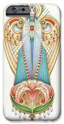 Scroll Angels - Lillium iPhone Case by Amy S Turner
