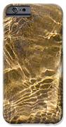 Water and sand ripples iPhone Case by Elena Elisseeva