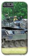The Leopard 1a5 Main Battle Tank iPhone Case by Luc De Jaeger