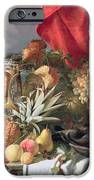 A Still Life of Game Birds and Numerous Fruits iPhone Case by William Duffield