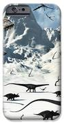 A  Tyrannosaurus Rex Stalks A Mixed iPhone Case by Mark Stevenson