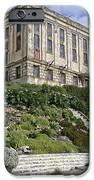 ALCATRAZ CELL HOUSE WEST FACADE iPhone Case by Daniel Hagerman