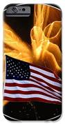 Angel Fireworks and American Flag iPhone Case by Rose Santuci-Sofranko