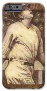 Babe Ruth The Bambino  iPhone Case by Ray Tapajna