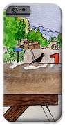 Bird on the Mailbox Sketchbook Project Down My Street iPhone Case by Irina Sztukowski