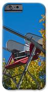 Empty chair on Ferris Wheel iPhone Case by Thom Gourley/Flatbread Images, LLC