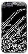Frost On Blades Of Grass, Woodcut iPhone Case by Gary Hincks