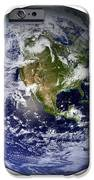 Full Earth Showing North America White iPhone Case by Stocktrek Images