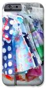 Girl's Dresses at Street Fair iPhone Case by Susan Savad