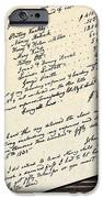 Invoice Of A Sale Of Black Slaves iPhone Case by Photo Researchers